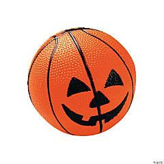 Rubber Jack-O'-Lantern Basketballs