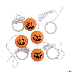 Rubber Jack-o'-Lantern Return Balls