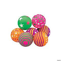 Rubber Jumbo Neon Star Handballs