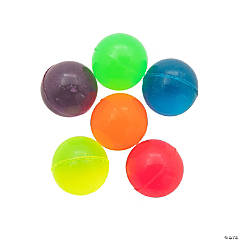 Rubber Neon Bouncy Balls