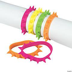 Rubber Neon Spike Bracelets