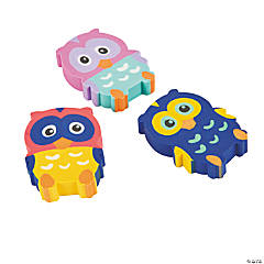 Rubber Owl Erasers