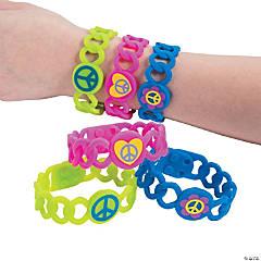 Rubber Peace Chain Bracelets