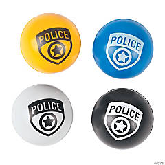 Rubber Police Party Bouncing Balls