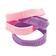 "Rubber ""Princess"" Sayings Bracelets"