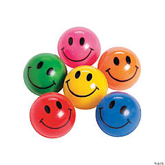 Rubber Smile Face Bouncing Balls