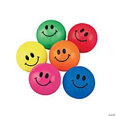 Rubber Smile Face Bouncing Balls