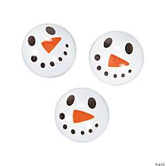 Rubber Snowman Face Bouncing Balls