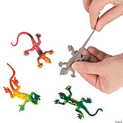 Rubber Stretchy Painted Lizards