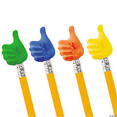 Rubber Thumbs Up Pencil Toppers