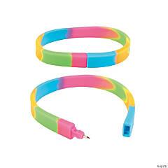 Rubber Tie-Dyed Pen Bracelets