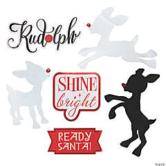 Rudolph the Red-Nosed Reindeer® Glittered Cutouts
