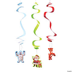Rudolph the Red-Nosed Reindeer® Hanging Swirl Decorations - 12 Pc.