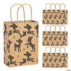 Rudolph the Red-Nosed Reindeer® Kraft Paper Gift Bags