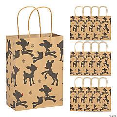 Rudolph the Red-Nosed Reindeer® Medium Kraft Paper Gift Bags