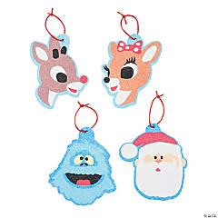 Rudolph the Red-Nosed Reindeer® Sand Art Ornaments