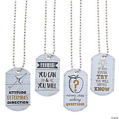 Rustic Classroom Dog Tag Necklaces