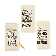 Rustic Faith Canvas Pencil Cases