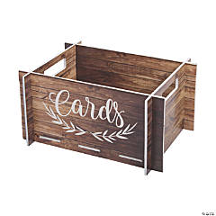 Rustic Faux Wood Card Crate