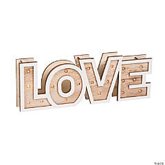 Rustic Love Marquee Sign Light