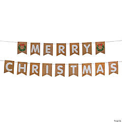 Rustic Merry Christmas Pennant Banner