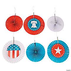 Rustic Patriotic Hanging Fans