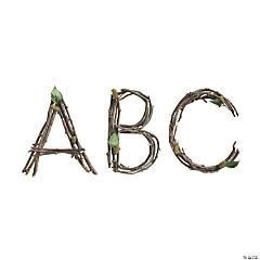 Rustic Twigs Bulletin Board Letters