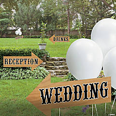 Rustic Wedding Directional Yard Signs