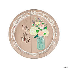 Rustic Wedding Paper Dinner Plates - 8 Ct.