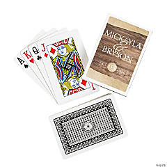 Rustic Wedding Playing Cards with Personalized Box