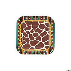 Safari Paper Dessert Plates - 8 Ct.
