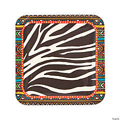 Safari Paper Dinner Plates - 8 Ct.