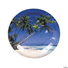 Sand And Sun Paper Dinner Plates - 8 Ct.