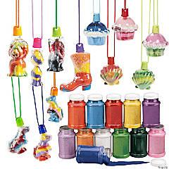 Sand Art Bottle Necklace Assortment Kit