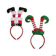Santa & Elf Leg Headbands