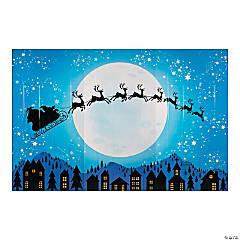 Santa & Reindeer Backdrop