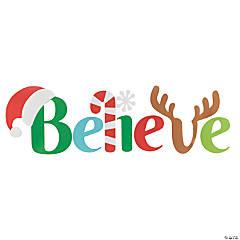 Santa Believe Wall Sign Cutouts