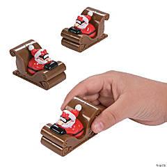 Santa in Sleigh Pullback Racers