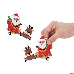 Santa Pullback Racer Craft Kit