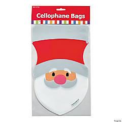 Santa-Shaped Bags Clip Strip