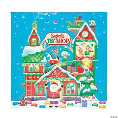 Santa Toy Shop Backdrop