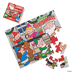 Santa Workshop Jumbo Floor Puzzle