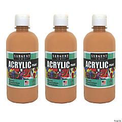 Sargent Art® Acrylic Paint Squeeze Bottle, 16 oz, Peach, Pack of 3
