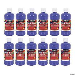 Sargent Art® Art-Time® Washable Tempera Paint, 16 oz, Blue, Pack of 12