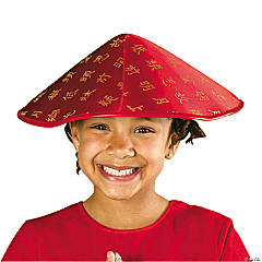 Satin Asian Hat