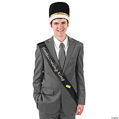 "Satin Black ""Homecoming King"" Sash"