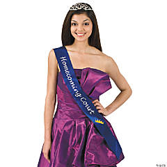 "Satin Blue ""Homecoming Court"" Sash"