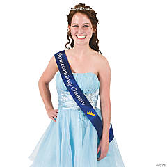 "Satin Blue ""Homecoming Queen"" Sash"