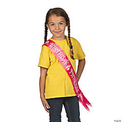 Satin Disney Princesses Birthday Sash