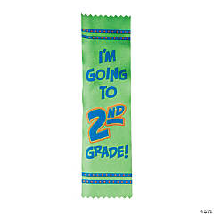 Satin I'm Going to 2nd Grade Graduate Ribbons